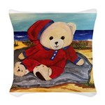Chef Cappy's Beach Vacation Woven Throw Pillow