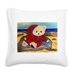 Chef Cappy's Beach Vacation Square Canvas Pillow
