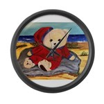Chef Cappy's Beach Vacation Large Wall Clock