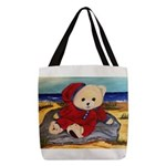 Chef Cappy's Beach Vacation Polyester Tote Bag