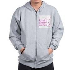 Tickled Breastcancer.org Zip Hoodie