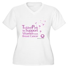 Tickled Breastcancer.org Women's Plus Size V-Neck