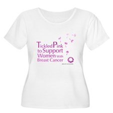 Tickled Breastcancer.org Women's Plus Size T-Shirt