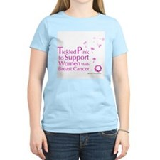 Tickled Breastcancer.org Women's Light T-Shirt