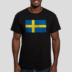 Swedish Flag Men's Fitted T-Shirt (dark)
