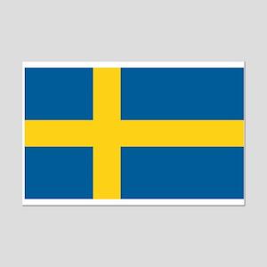 Swedish Flag Mini Poster Print