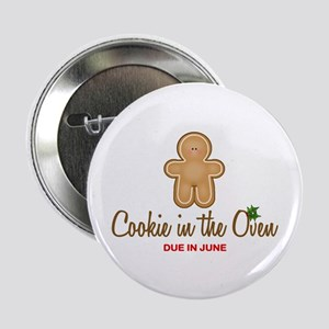 """Due June Cookie 2.25"""" Button"""
