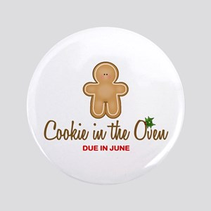 """Due June Cookie 3.5"""" Button"""