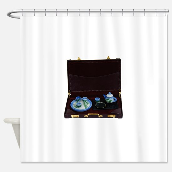 BusinessTea041209.png Shower Curtain
