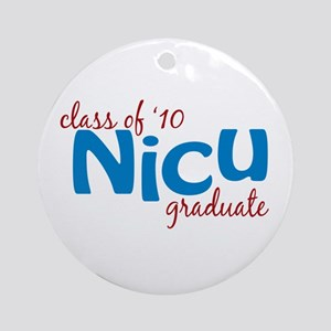 NICU Graduate 2010 (blue) Ornament (Round)