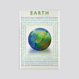 Earth Personification Rectangle Magnet