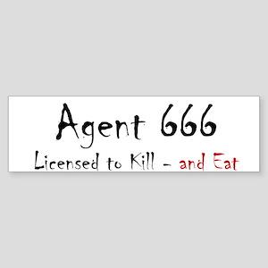 Agent 666 Sticker (Bumper)