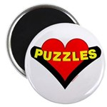 Puzzles Heart Magnet