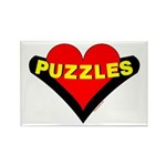 Puzzles Heart Rectangle Magnet (100 pack)