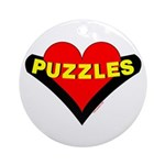 Puzzles Heart Ornament (Round)