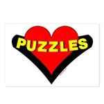 Puzzles Heart Postcards (Package of 8)