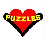 Puzzles Heart Small Poster
