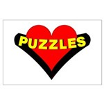 Puzzles Heart Large Poster