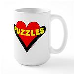 Puzzles Heart Large Mug