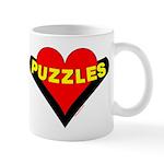 Puzzles Heart Mug