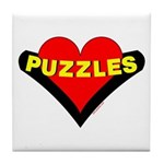 Puzzles Heart Tile Coaster