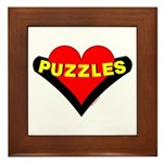 Puzzles Heart Framed Tile