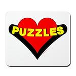 Puzzles Heart Mousepad