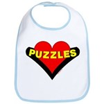Puzzles Heart Bib