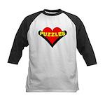 Puzzles Heart Kids Baseball Jersey