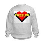 Puzzles Heart Kids Sweatshirt