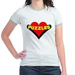 Puzzles Heart Jr. Ringer T-Shirt