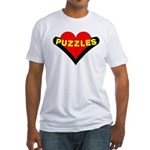 Puzzles Heart Fitted T-Shirt