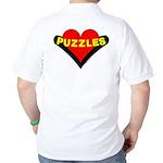 Puzzles Heart (back image) Golf Shirt