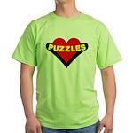 Puzzles Heart Green T-Shirt
