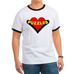 Puzzles Heart Ringer T