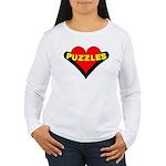 Puzzles Heart Women's Long Sleeve T-Shirt