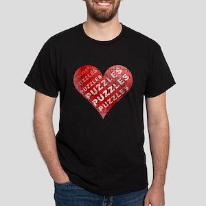 Jigsaw Puzzle Heart Dark T-Shirt