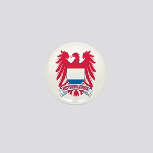 Netherlands Winged Mini Button