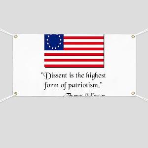 Dissent Thomas Jefferson Banner