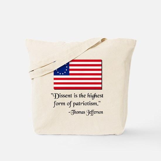 Dissent Thomas Jefferson Tote Bag