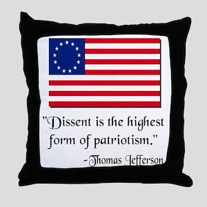 Dissent Thomas Jefferson Throw Pillow