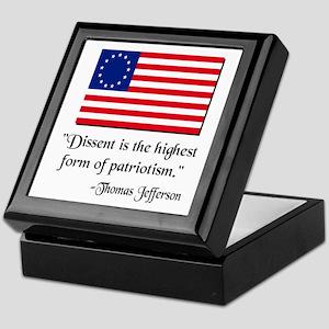 Dissent Thomas Jefferson Keepsake Box