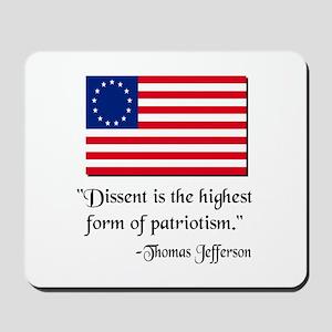 Dissent Thomas Jefferson Mousepad