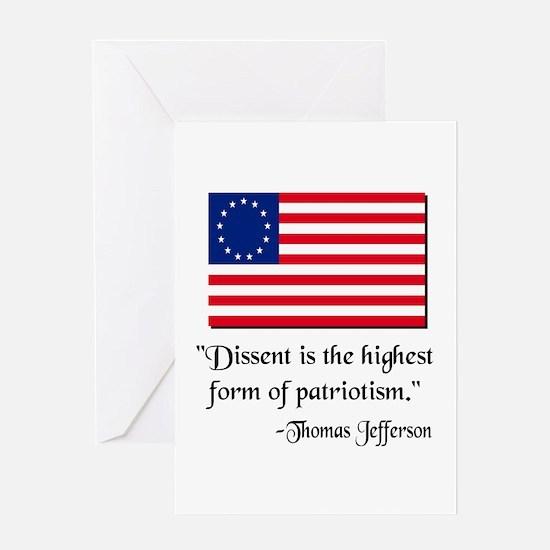 Dissent Thomas Jefferson Greeting Card