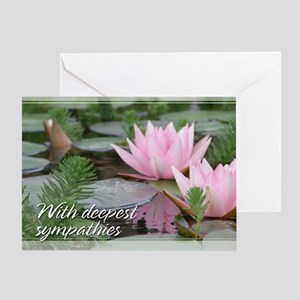 Pink Lotusflower Sympathy Card 5x7