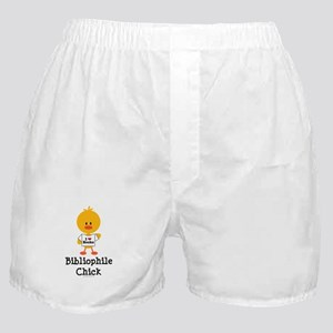 Bibliophile Chick Boxer Shorts