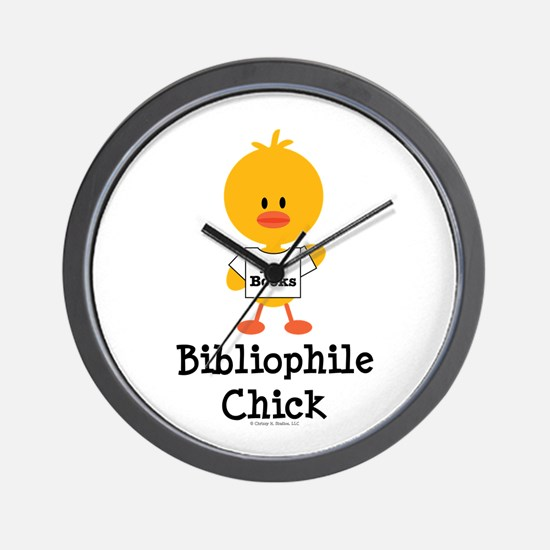 Bibliophile Chick Wall Clock