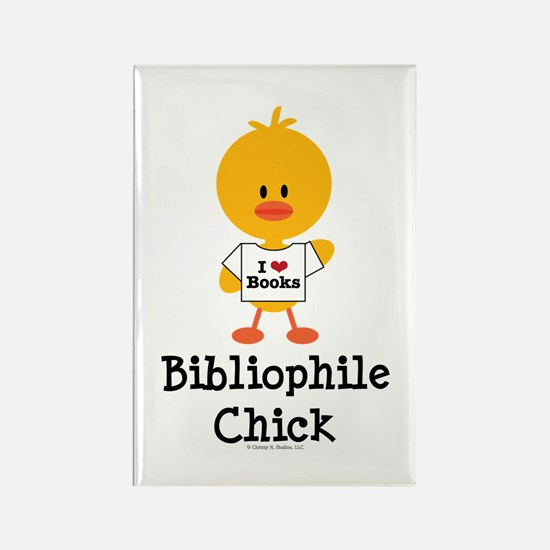 Bibliophile Chick Rectangle Magnet