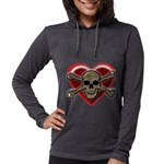 Pirate Love Heart & Skull Long Sleeve T-Shirt