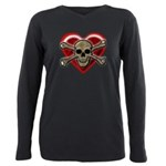 Pirate Love Heart & Skull T-Shirt